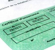 Copie de l'attestation d'assurance du véhicule